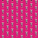 Character Prints - Mickey - Minnie Glasses Dots in Pink