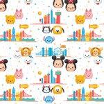 Character Prints - Mickey - Tsum Tsum Travel in White