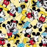 Character Prints - Mickey - Mickey Minnie Togetherness in Yellow