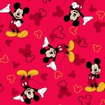Character Prints - Mickey - Mickey Icons Toss in Red