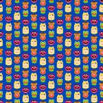 Character Prints - Other Characters - Muppet Friends Emojiland in Blue