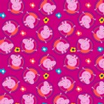 Character Prints - Other Characters - Peppa Pig Badges in Fushia
