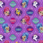 Character Prints - Other Characters - Shimmer and Shine Badges in Purple