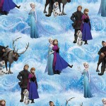 Character Prints - Princess - Frozen Character Scenic in Blue