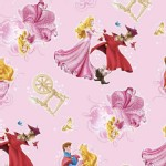 Character Prints - Princess - Sleeping Beauty Character Toss in Pink