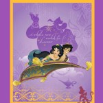 Character Prints - Princess - Jasmine Panel in Purple