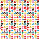 Character Prints - Princess - Princess Emojiland in White