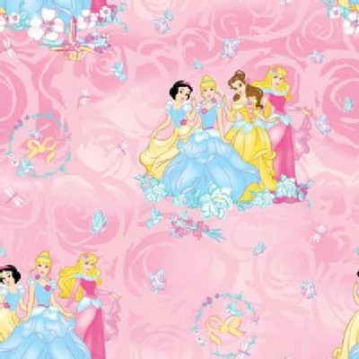 Character Prints - Princess - Disney Princess Blossom All Over in Pink