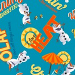 Character Prints - Princess - Frozen Olaf Heat in Blue