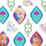 Character Prints - Princess - Frozen Sisters Ogee in White