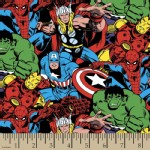 Character Prints - Super Heroes - KNIT - Marvel Packed Character in Multi