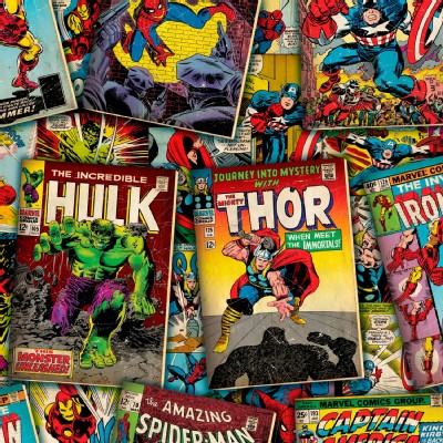 Character Prints - Super Heroes - Marvel Comic Covers in Multi