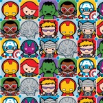 Character Prints - Super Heroes - Marvel Kawaii Character Tiles in Multi