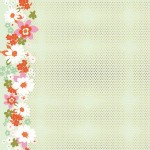 Cotton And Steel - Mustang - Floral Border Dots in Mint