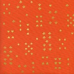 Cotton And Steel - Wonderland - Follow Suit in Orange Metallic