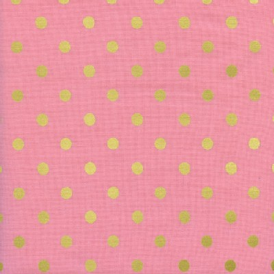 Cotton And Steel - Wonderland - Caterpillar Dots in Pink Metallic