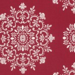 Free Spirit - Peppermint Rose - Snow Crystals in Cranberry
