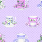 Lakehouse Drygoods - Sausalito Cottage - Peri Teacups in Lavender