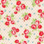 Lecien - Flower Sugar 2013 - Main - Dots in White with Pink Dots