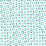 Lecien - Flower Sugar 2013 Fall - Small Checkers in Aqua