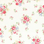 Lecien - Flower Sugar 2014 Fall - Med Florals in White