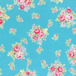 Lecien - Flower Sugar 2014 Fall - Med Florals in Aqua