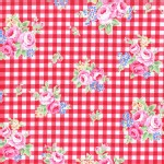 Lecien - Flower Sugar 2015 Fall - Floral Checkers in Red
