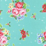 Lecien - Flower Sugar Holiday - Main Floral Holly in Aqua
