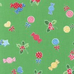 Lecien - Flower Sugar Holiday - Candy Holly in Green