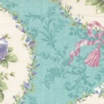 Lecien - Rococo Sweet 2014 - Floral Cameo in Seamist