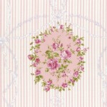 Lecien - Rococo Sweet 2015 - Cameo Stripes in Dusky Pink