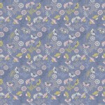 Lewis And Irene - A Little Bird Told Me - Cottage Flowers in Welsh Blue