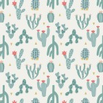 Lewis And Irene - Paracas - Cactus in Blue