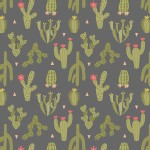Lewis And Irene - Paracas - Cactus in Grey