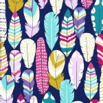 Michael Miller Fabrics - Arrow Flight - Plucked in Midnight