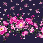 Michael Miller Fabrics - Bed of Roses - Border in Sapphire