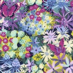 Michael Miller Fabrics - Florals - Seaside Garden in Navy