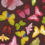 Michael Miller Fabrics - French Journal - Papillon in Cocoa