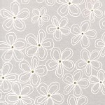 Michael Miller Fabrics - Glitz - Wee Sparkle - Lacey Daisy in Cloud