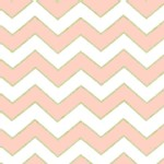 Michael Miller Fabrics - Glitz - Chic Chevron Pearlized in Blush