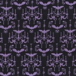 Michael Miller Fabrics - Halloween - Scary Lighting in Purple