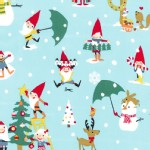 Michael Miller Fabrics - Holiday - Gnome For the Holidays in Blue