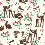 Michael Miller Fabrics - Holiday - Fawn Memories in Cream