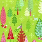 Michael Miller Fabrics - Holiday - Festive Forest - Winter Woods in Green