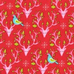 Michael Miller Fabrics - Holiday - Festive Forest - Nest in Red