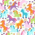 Michael Miller Fabrics - Kids - Magic Unicorns in Sorbet