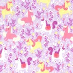 Michael Miller Fabrics - Kids - Princess Charming - Unicorn Frolic in Opal