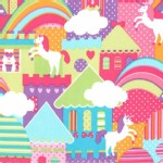 Michael Miller Fabrics - Kids - Princess Charming - Unicorn Town in Princess