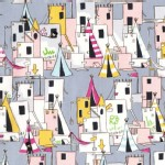 Michael Miller Fabrics - Lets Pretend - Best fort ever in Gray