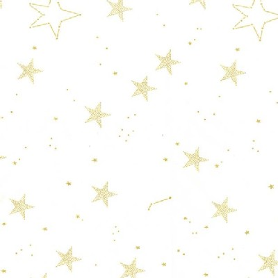 Michael Miller Fabrics - Magic - Lucky Stars in White